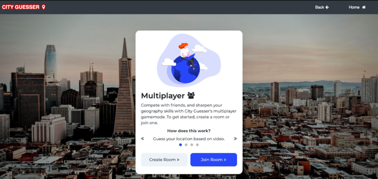 City Guesser -  Virtual Event Game
