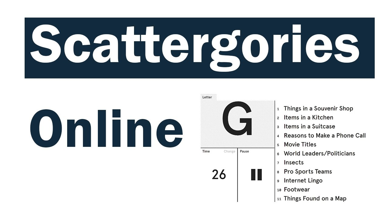 Scattergories - virtual event game
